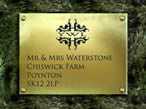 Plaque for you house /garden gate or garden wall