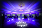 Gobo light to illuminate the evening reception